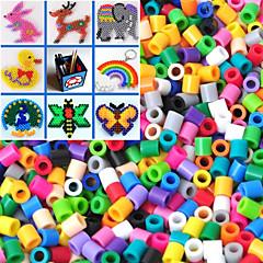 1000 stuks circa 5mm gemengde Perler kralen zekering kralen Hama kralen diy puzzel eva materiaal safty voor kinderen