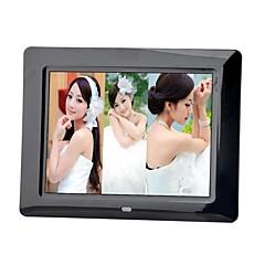8 pouces cadre photo numérique avec la musique de télécommande vidéo (blanc et noir)