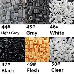 ca 500pcs / pose 5mm Perler perler fusionerer perler Hama perler EVA materiale olietankeren for børn (assorterede B44-B50)