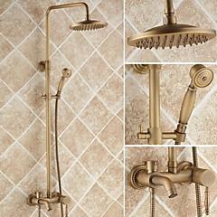antik bronz kád zuhany csaptelep, 8 inch zuhanyfej + kézi zuhany