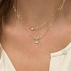 Золотой Ожерелья с подвесками Сплав / Искусственный жемчуг Повседневные Бижутерия