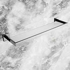 Fürdőszobai polc / Rozsamentes acél Rozsdamentes acél Üveg /Kortárs
