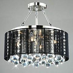 Luxury Minimalist Restaurants Use Crystal Ceiling Lamps