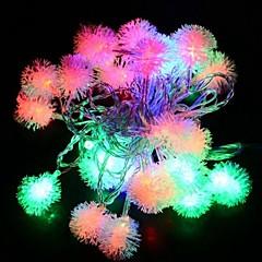 4m 28LED Fuzzy-String-Ball Lichterkette Weihnachten Xmas Party Hochzeitsdekoration