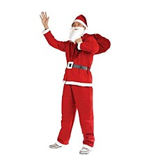 Cosplay Kostuums / Feestkostuum / Gemaskerd Bal Kerstmanpakken Festival/Feestdagen Halloween Kostuums Rood EffenTop / Broeken / Riem /