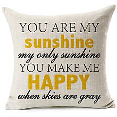"""""""Te vagy a napfény"""" pamut / vászon dekoratív párna fedél"""