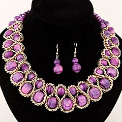 Jewelry Set Women's Daily Jewelry Sets Imitation Pearl / Alloy Earrings / Necklaces Gold