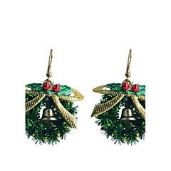 lureme móda pečení lak bowknot Vánoce ring slitina náušnice