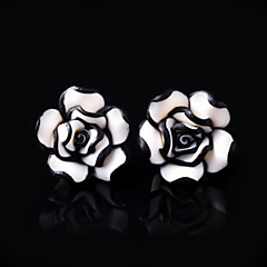 Women's Acrylic Stud Rose Earrings