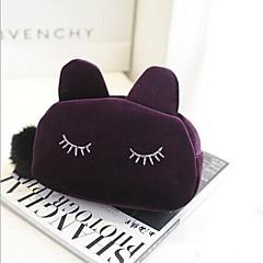 többfunkciós rajzfilm macska alakú gyapjú kozmetika tároló zsák