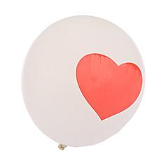 extra large wit maat dikke hart ronde ballonnen - set van 24