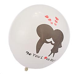 dikke kus verliefd ronde ballonnen - set van 24