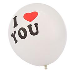 extra groot formaat dikke ik houd van u ronde ballonnen - set van 24