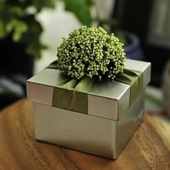 12 Peça/Conjunto Titular Favor-Cúbico Ferro (niquelado) Caixas de Presente não-personalizado