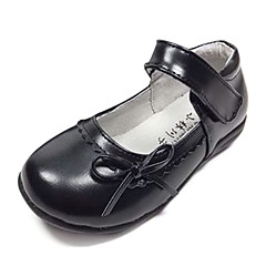 Girls' Shoes Casual Leather Flats Spring / Summer / Fall / Winter Mary Jane Flat Heel Black / Red / White