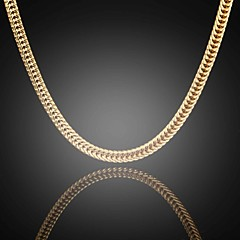 nunca desaparecer 24k verdadeiro ouro dos homens jack banhado Figaro escassamente plano correntes de elos colar de alta qualidade para homens 6
