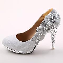 Women's Wedding Shoes Heels/Round Toe Heels Wedding Red/Silver/Gold