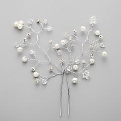 Mulheres Crostal Liga Imitação de Pérola Zircônia Cubica Capacete-Casamento Ocasião Especial Flores Alfinete de Cabelo
