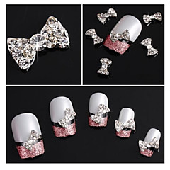 10st glitter strass strikje legering accessoires nail art decoratie