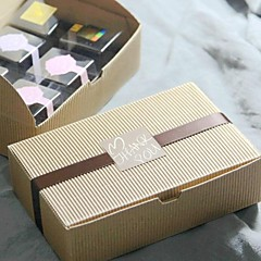 Cow Skin Color Cake Box Set Of 6 (Not Including Other Accessories)