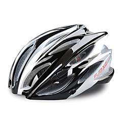 fjqxz 23 aberturas eps + pc preto integralmente-moldados capacete ciclismo (58-63cm)