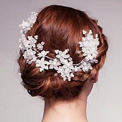 Vrouwen Kristallen / Licht Metaal / Imitatie Parel Helm-Bruiloft / Speciale gelegenheden / Buiten Bloemen