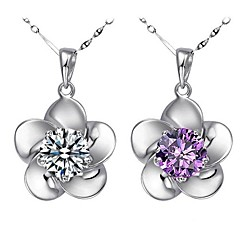 Jewelry Set Women's Wedding / Gift / Party / Daily / Special Occasion Jewelry Sets Sterling Silver Cubic Zirconia Necklaces / Earrings
