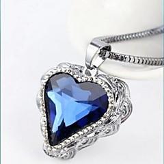 hjärtat av vatten kristall halsband
