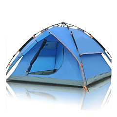 FlyTop® 3-4 persons Tent Triple Automatic Tent One Room Camping Tent >3000mm NylonMoistureproof/Moisture Permeability Heat Insulation
