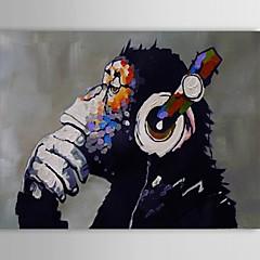 Handgemalte Tier Ölgemälde,Klassisch / Modern / Traditionell Ein Panel Leinwand Hang-Ölgemälde For Haus Dekoration