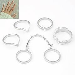 Naisten Midi-sormukset Asu Personoitu Eurooppalainen Metalliseos Korut Käyttötarkoitus Päivittäin