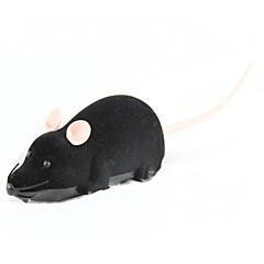 plastique électrique + jouet de la souris en peluche - noir