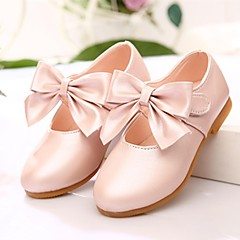 Flats Spring Fall Light Up Shoes Leatherette Outdoor Dress Flat Heel Bowknot Pink Gold Coral