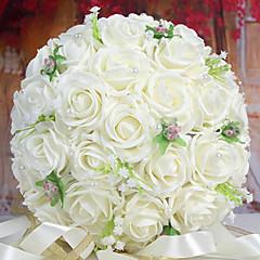 ein Bouquet von 30 pe Simulation Rosen wedding sind Blumenstrauß Hochzeit Braut mit Blumen, weiß
