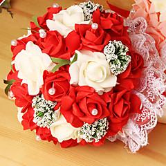 egy csokor 23 pe szimuláció rózsa esküvői csokor esküvő menyasszony gazdaság virágok, 4 színben