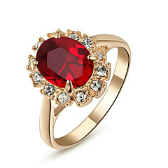 Maxi anel Cristal imitação de ruby Imitação de Diamante imitação de diamante Liga Pedras dos signos Clássico JóiasCasamento Festa Diário