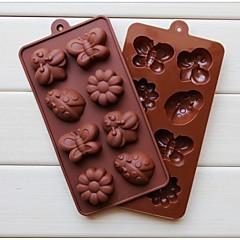 Mode Silikon-Schokoladenform Süßigkeiten Gestaltung Kuchen dekorieren Kuchen Kochen Werkzeuge Ice Modellierungsform (gelegentliche Farbe)