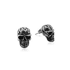 Men's Titanium Retro Skeleton Earrings One Pcs
