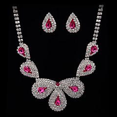 Jewelry Set Women's Anniversary / Wedding / Engagement / Birthday Jewelry Sets Cubic Zirconia / Alloy Cubic Zirconia Necklaces / Earrings