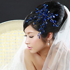Women Alloy Flowers With Rhinestone Wedding/Party Headpiece(More Colors)