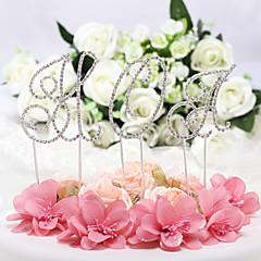 Figurky na svatební dort Nepřizpůsobeno Monogram PochromovanýVýročí / Párty pro nevěstu / Dárky pro novorozeně / 15. narozeniny a
