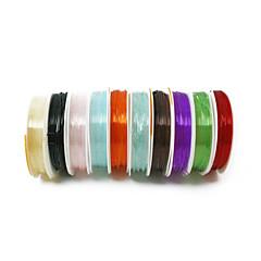 beadia 1mm Przewód elastyczny odcinek linkę kryształ naszyjnik bransoletka DIY wątek drutu wielokolorowy 10 rolek (apx 5m / rolka)