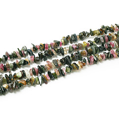 """חרוזים אבן טורמלין beadia 5-8mm לא סדיר צורת חרוזים רופפים DIY להכנת צמיד שרשרת 34 """"/ str"""