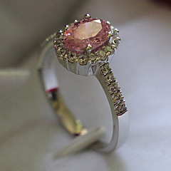 2CT 6*8mm Oval Pink Ring Sterling Silver SONA Synthetic Pink Diamond Ring Women Engagement Micro Paved Platinum Plated