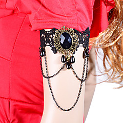 Vintage Lolita Gem Tassel Chain Bracelet
