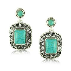Drop Earrings Women's Alloy Earring Turquoise