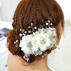 Vrouwen Bergkristal Helm-Bruiloft / Speciale gelegenheden Bloemen 1 Stuk Wit Bloem