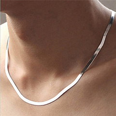 Women's Chain Necklaces Circle Silver Sterling Silver Fashion Silver Jewelry For Party Daily Casual Sports 1pc