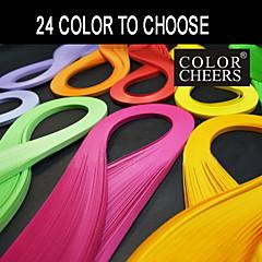 120pcs quilling papir 5mmx54cm (24 farver at vælge) diy håndværk dekoration