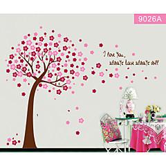 bunte Blumenbaum für Kinderzimmer Wandtattoo zooyoo9026 dekorative abnehmbare PVC-Wandaufkleber